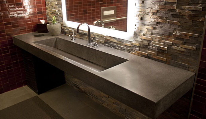 Concrete sinks-We offer custom concrete solutions including Polished concrete, Stained concrete, Epoxy Floor, Sealed concrete, Stamped concrete, Concrete overlay, Concrete countertops, Concrete summer kitchens, Driveway repairs, Concrete pool water falls, and more.