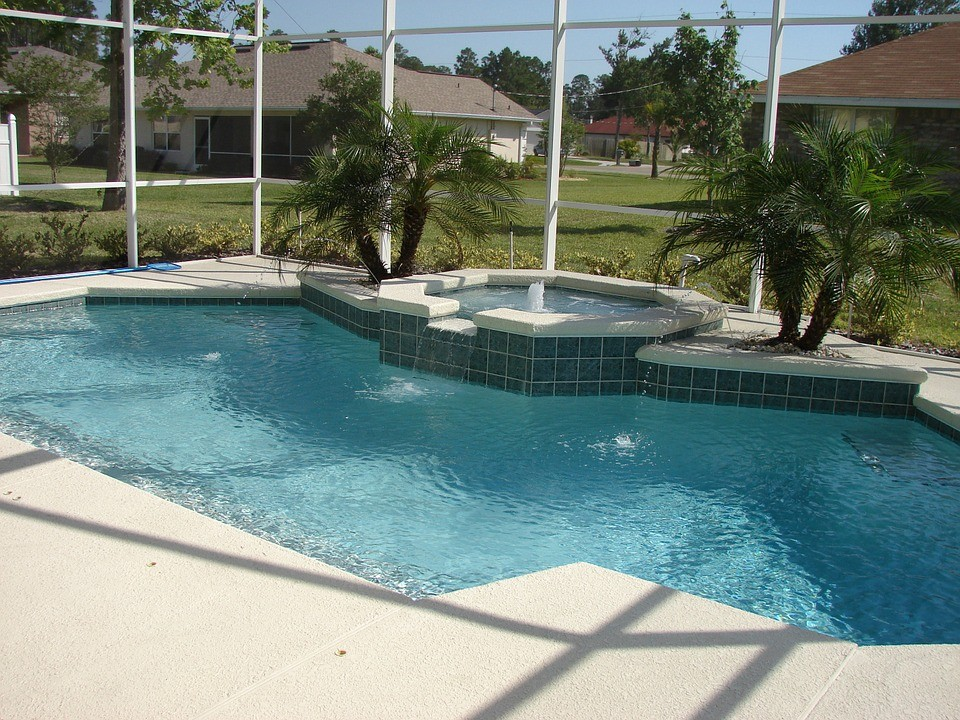 Custom Concrete Pool Spill Over Bowl  FL